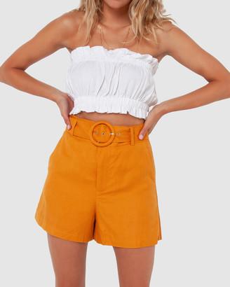 Madison The Label - Women's Orange High-Waisted - Monique Shorts - Size One Size, 8 at The Iconic