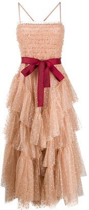 RED Valentino glitter polka-dot tulle A-line dress