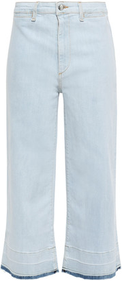 Veronica Beard Cropped High-rise Wide-leg Jeans