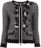 Twin-Set embellished knit jacket - women - Cotton - XS