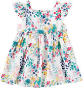 Osh Kosh Oshkosh Short Sleeve Floral A-Line Dress - Baby Girls