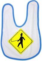 Fotomax baby bib with Jaunty Pedestrian Caution