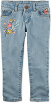 Carter's Embroidered Stretch Denim Jeans, Toddler Girls (2T-4T)