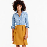 J.Crew Sailor skirt in double-serge wool