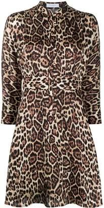 Equipment Leopard-Printed Flared Shirt Dress