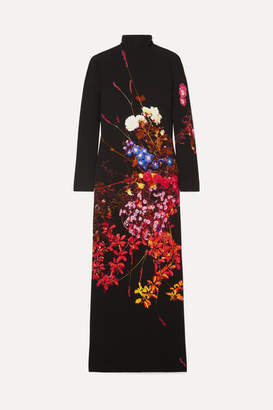 Dries Van Noten Dolfi Floral-print Crepe Maxi Dress - Black