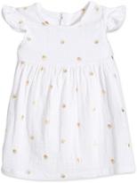 Aden Anais aden + anais Printed Flutter Sleeve Yoke Dress - Pink, Size 18-24m