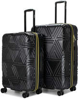 Badgley Mischka Contour 2-Piece Expandable Spinner Luggage Set - M/L