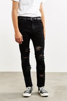 Shredded Black Levi's 510 Skinny Jean