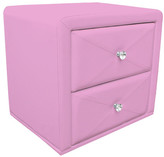 Pink Upholstered Bedside Table