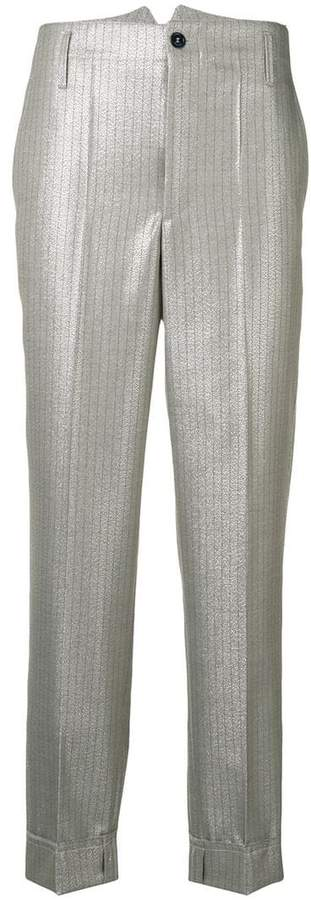 Golden Goose metallic cropped trousers