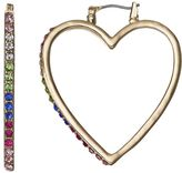 Juicy Couture Multi Color Heart Hoop Earrings