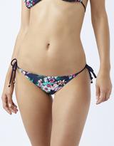 Accessorize Eden Print String Side Bikini Briefs
