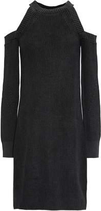 Rag & Bone Dana Cold-shoulder Ribbed-knit Cotton Mini Dress