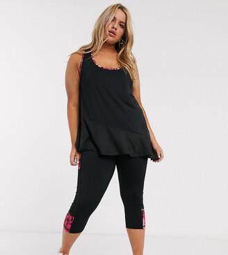 Simply Be activewear cropped leggings in black