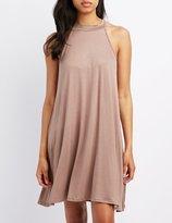 Charlotte Russe Mock Neck Swing Dress