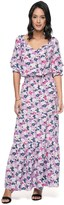 Juicy Couture Seaside Floral On Silk Maxi Dress