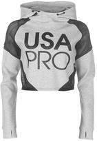 USA Pro Cropped Mesh Hoodie