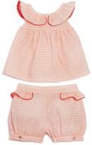 Tartine et Chocolat Girls' Geo Dot Top & Shorts Set