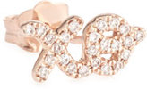 Sydney Evan 14K Gold XO Stud Earring with Diamonds