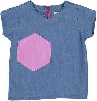 Teela Nyc Denim Top Light Denim Shirt