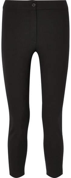 Ann Demeulemeester Cropped Stretch-wool Slim-leg Pants - Black
