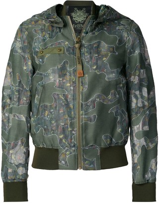 Mr & Mrs Italy Camouflage Print Bomber Jacket
