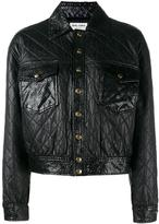 Saint Laurent cropped quilted leather jacket - women - Cotton/Calf Leather/Lamb Skin/Cupro - 36
