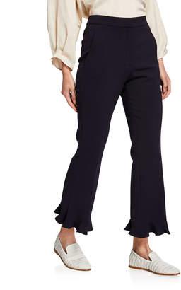 Stella McCartney Flared Crop Pants with Ruffled Hem