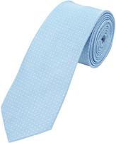Oxford Silk Tie Dots Reg Sky Blu X