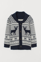 H&M Patterned Cardigan - Gray
