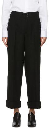 Yohji Yamamoto Black Vintage Flannel Mackin Trousers