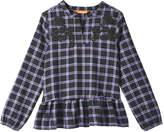 Joe Fresh Kid Girls' Embroidered Plaid Blouse