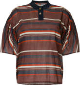 Kolor striped polo shirt