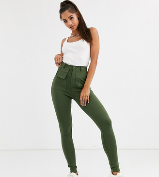 Asos Tall ASOS DESIGN Tall ponte skinny pant with utility pockets