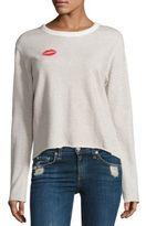Monrow Kiss Lace-Up Sweatshirt