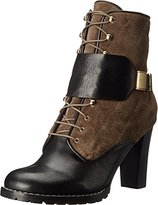 See by Chloe Women's Suede + Flat Leather Lace Up Bootie 37.5 (US Women's 7.5) M