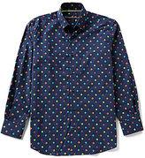 Visconti Long-Sleeve Mini-Floral Print Woven Shirt