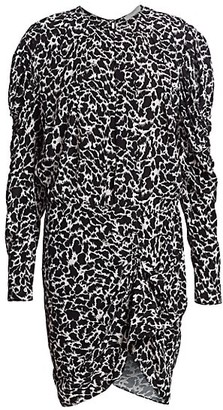 Etoile Isabel Marant Selwyn Printed Long-Sleeve Dress