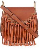 Chloé Hudson small suede-tassel leather cross-body bag