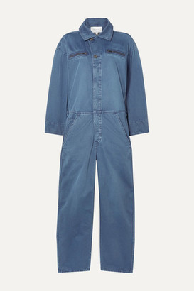 Current/Elliott The Penny Cotton-twill Jumpsuit - Blue