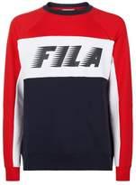 Fila Runner Logo Colour Block Sweatshirt