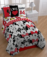 "Disney's Minnie Mouse ""Who"" Twin/Full Comforter Set"