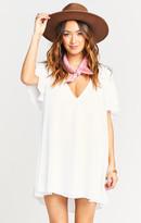 MUMU Disick Dress ~ White Chiffon