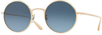 Oliver Peoples The Row After Midnight Round Metal Sunglasses