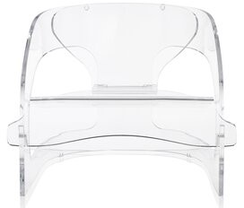 Kartell Joe Columbo Armchair Color: Transparent Crystal
