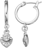 Juicy Couture Heart Charm Hoop Earrings