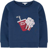 Little Marc Jacobs Mini Me graphic sweatshirt with sequins