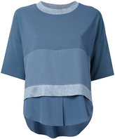 Lorena Antoniazzi layered shortsleeved blouse - women - Polyester/Spandex/Elastane/Viscose - 42