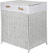 Living HOME 120 Litre Seagrass Laundry Sorter - White